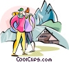 Vector Clipart graphic  of a Slovenia Triglav