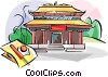 Vector Clip Art graphic  of a Hong Kong Temple Wong Tai Sin