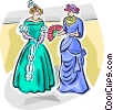 Vector Clipart picture  of a Victorian costumes