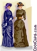 Victorian costumes Vector Clipart picture