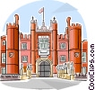 Vector Clipart graphic  of a Hampton Court Palace