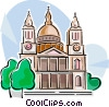 Vector Clip Art image  of a St Paul's Cathedral