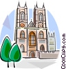 Vector Clip Art image  of a Westminster Abbey