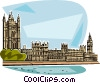 Vector Clip Art graphic  of a Houses of Parliament