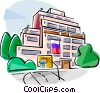 Russian school building Vector Clipart image