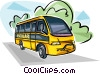 Vector Clip Art graphic  of a Brazilian School bus