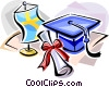Vector Clip Art graphic  of a Swedish graduation hat