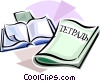 Vector Clipart picture  of a Russian school notebooks
