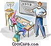 Israeli pupils in Israeli typical schools Vector Clipart image