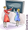 Vector Clipart illustration  of a Russian classroom