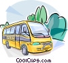 Vector Clip Art picture  of a Brazilian School bus