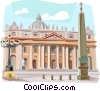 Vector Clipart graphic  of a The Vatican Rome St. Peter's