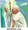 Vector Clip Art graphic  of a Pope John Paul II