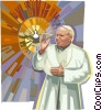 Pope John Paul II Vector Clipart illustration