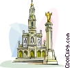 Sanctuary of Fatima Vector Clipart graphic