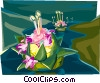 Vector Clipart graphic  of a Thailand Loi Krathong festival