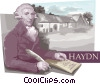 Vector Clipart illustration  of a Franz Joseph Haydn