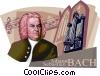 Vector Clip Art image  of a Johann Sebastian Bach