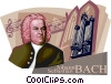 Vector Clipart graphic  of a Johann Sebastian Bach