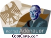 Vector Clipart graphic  of a Konrad Adenauer