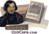 Vector Clipart graphic  of a Nikolay Gogol