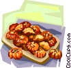 Vector Clip Art image  of a Korean fried honey cake