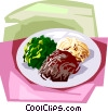 Korean Cooked vegetables Vector Clip Art picture