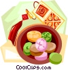 Vector Clip Art graphic  of a Korean candy