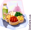 Korean fried glutinous rice cake Vector Clipart picture