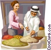 Vector Clip Art picture  of an Arab region souk market