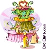 Vector Clip Art graphic  of a Brazilian carnival