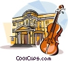 PI Tchaikovsky Moscow State Conservatoire Vector Clipart illustration