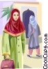 Arabic people Vector Clipart image