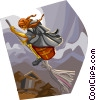 Vector Clipart picture  of a Fable Characters Baba Yaga