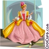 Fable Characters based on Cinderella fable Vector Clipart image