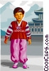 Traditional Korean clothing Clothes for boy Vector Clipart picture