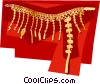 Korean Gold belt for king Silla period Vector Clipart illustration