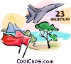Vector Clipart picture  of a Jet Fighters