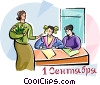 Vector Clip Art picture  of a Teachers