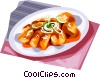 Vector Clip Art graphic  of a Korean Food seasoned bar rice
