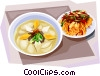 Korean Food Rice-cake soup Vector Clip Art image
