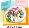 Vector Clip Art picture  of a Korean Food