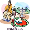 Vector Clipart graphic  of a Traditional Korean clothing