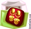 Korean Earring from Silla period Vector Clipart picture