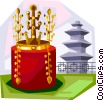 Vector Clip Art graphic  of a Korean Gold Crown from Silla