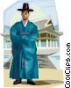 Vector Clipart picture  of a Traditional Korean clothing