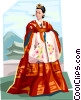 Traditional Korean clothing Choson Dynasty Vector Clipart graphic