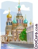 Vector Clipart graphic  of a Russia Cathedral of Our Savior
