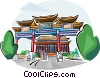 Vector Clip Art graphic  of a Taiwan Landmarks