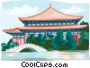 Taiwan  temple Vector Clipart graphic